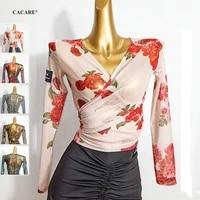 cacare dance top shirts for women latin ballroom competition dresses fringe dress salsa samba costumes latino 5 choices d0859