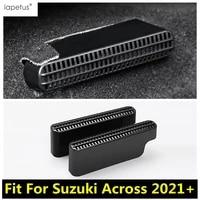lapetus plastic accessories car air conditioner under rear seat seat ac vent duct outlet cover trim fit for suzuki across 2021