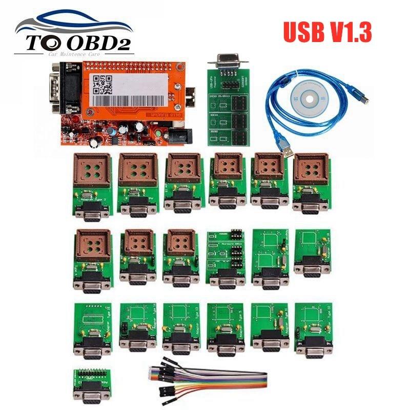 OBD2 تشخيص UPA-USB V1.3 الوحدة الرئيسية ECU رقاقة Tunning UPA USB مع V1.3 1.3 eeprom محول ECU مبرمج شحن مجاني