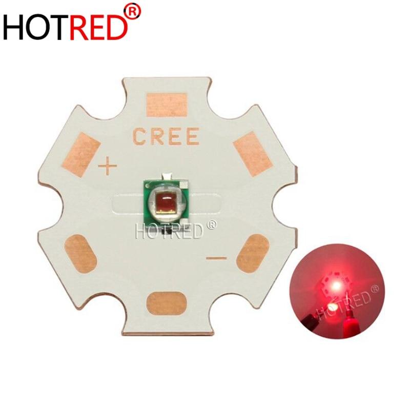 10 Uds. 1W 3W Cree XLamp XPE XP-E rojo lejano 730nm alta potencia LED cuentas 1,9-2,4 V 350-1000mA planta crece LED emisor bombilla iluminación