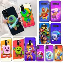 NBDRUICAI mignon étui Gbrawl étoiles noir souple housse de téléphone pour Samsung S20 plus Ultra S6 S7 edge S8 S9 plus S10 5G lite 2020