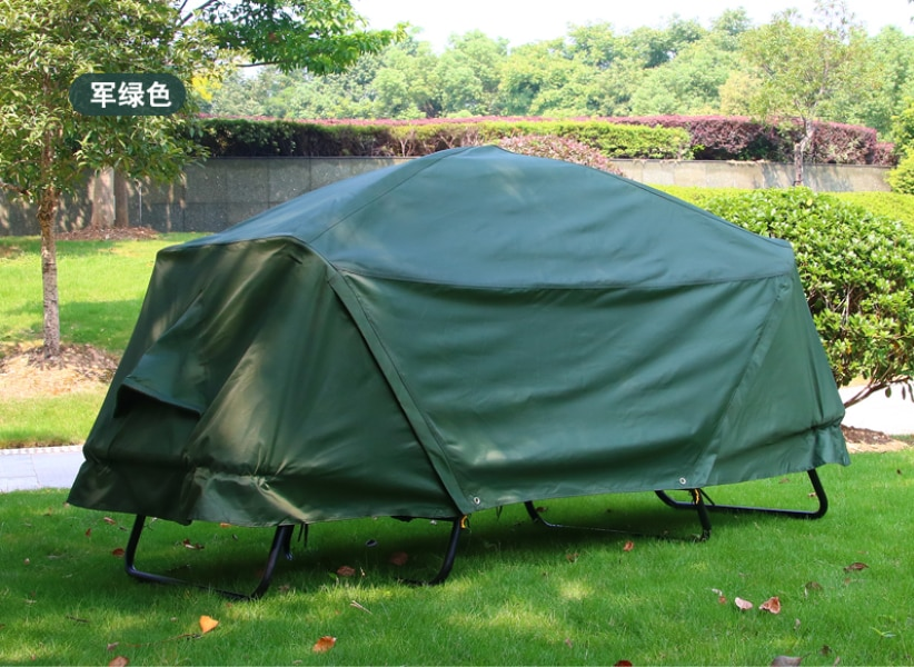 Tent outdoor camping rainproof thickening camping double layer cold proof fishing special off ground tent for rainstorm preventi
