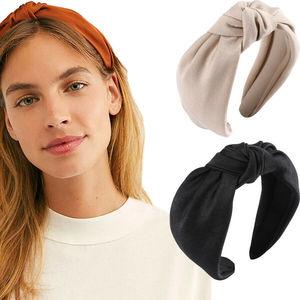 Headband Accessories Hoop Tie Women's Casual Hair Band Plain Hairband Wide Knot