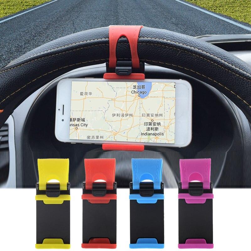 Soporte Universal para volante de coche, soporte para teléfono, soporte de navegación GPS, soporte para bicicleta, motocicleta, soporte para montaje en horquilla, soporte para iPhone