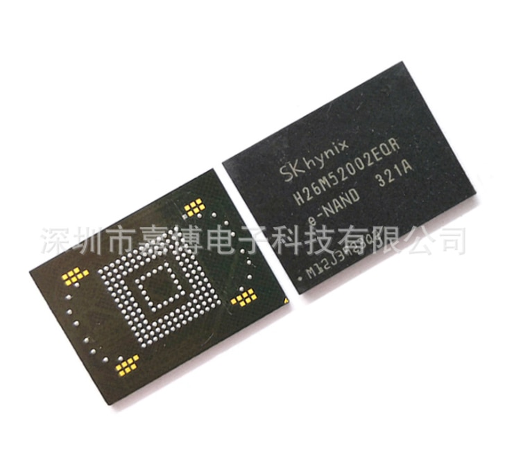 Mxy 100% جديد الأصلي H26M52002EQR بغا رقاقة الهاتف المحمول EMMC 16GB التخزين