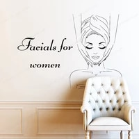 facials for woman wall decals spa salon wall sticker spa relax home bedroom removable wall art mural jh319
