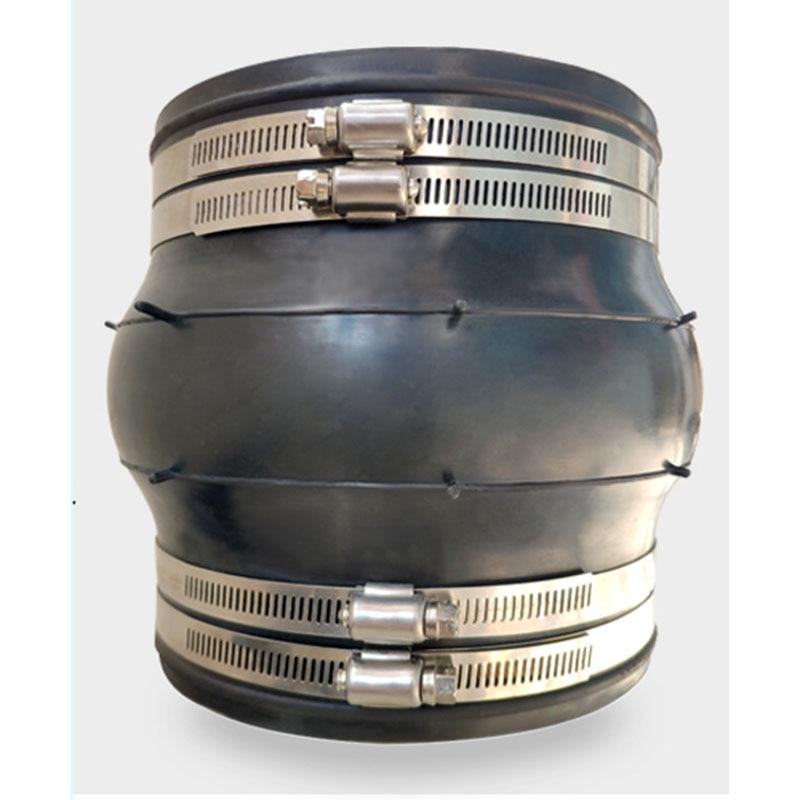 DN125-DN400 KXT مرنة المطاط مشتركة الفولاذ المقاوم للصدأ 304 المشبك نوع الأنابيب مرنة المطاط مشتركة