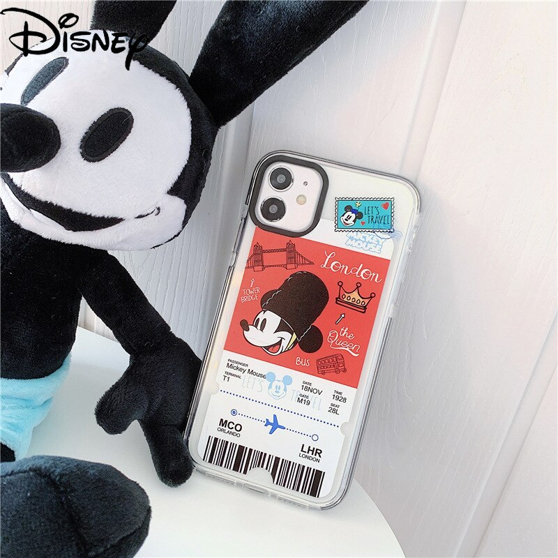 Disney Mobile Phone Case for IPhone7plus/8/XR/Xs/12/11ProMax Mobile Phone Gaming Minnie Mickey for 11 iphone case  - buy with discount