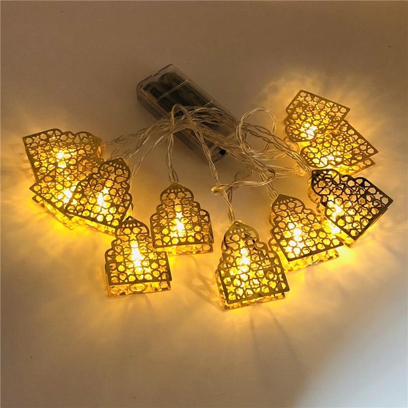 Star Moon Lamp Ramadan Decoration Led Garland String Light Eid Mubarak Decor Islamic Party Decoration Wedding Decor Eid Al Adha