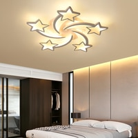 LED Chandelier Modern Stars Ceiling chandeliers Lighting For Living Room Bedroom kitchen Children With Remote Control Lustre