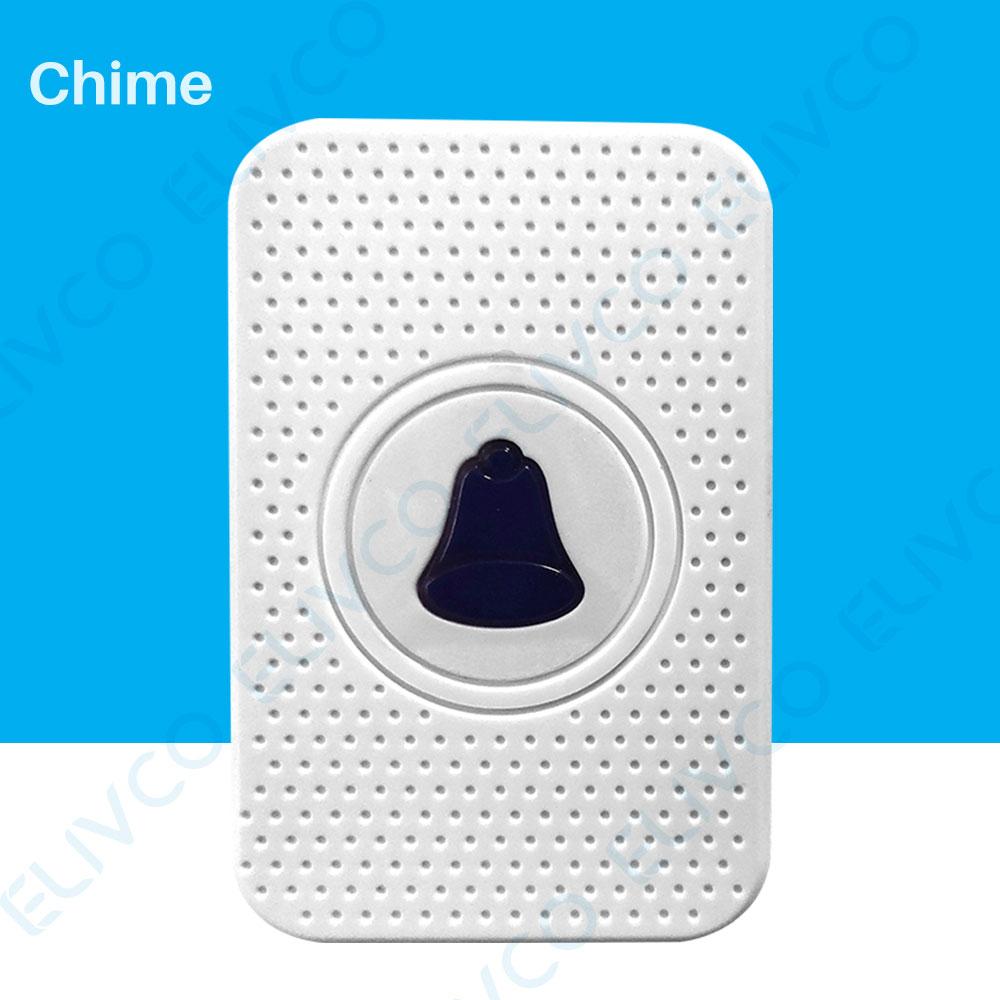 Timbre inalámbrico interior campana Ding Dong 110-260V para Video timbre WiFi Video intercomunicador de baja potencia timbre de la puerta campana receptor