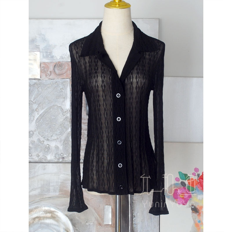 Very delicate, 18 stitches as thin as cicada wings, a variety of three-dimensional jacquard women's  knitting Cardigans enlarge