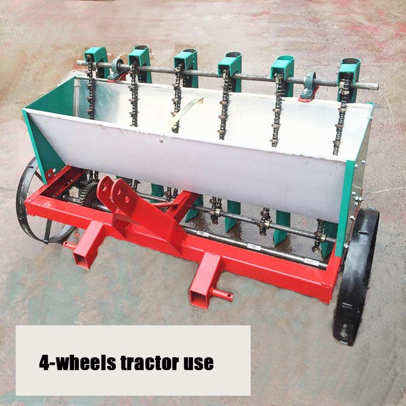 6-row four-wheel planter tractor-traction garlic gearbox fine seeder garlic planting machine