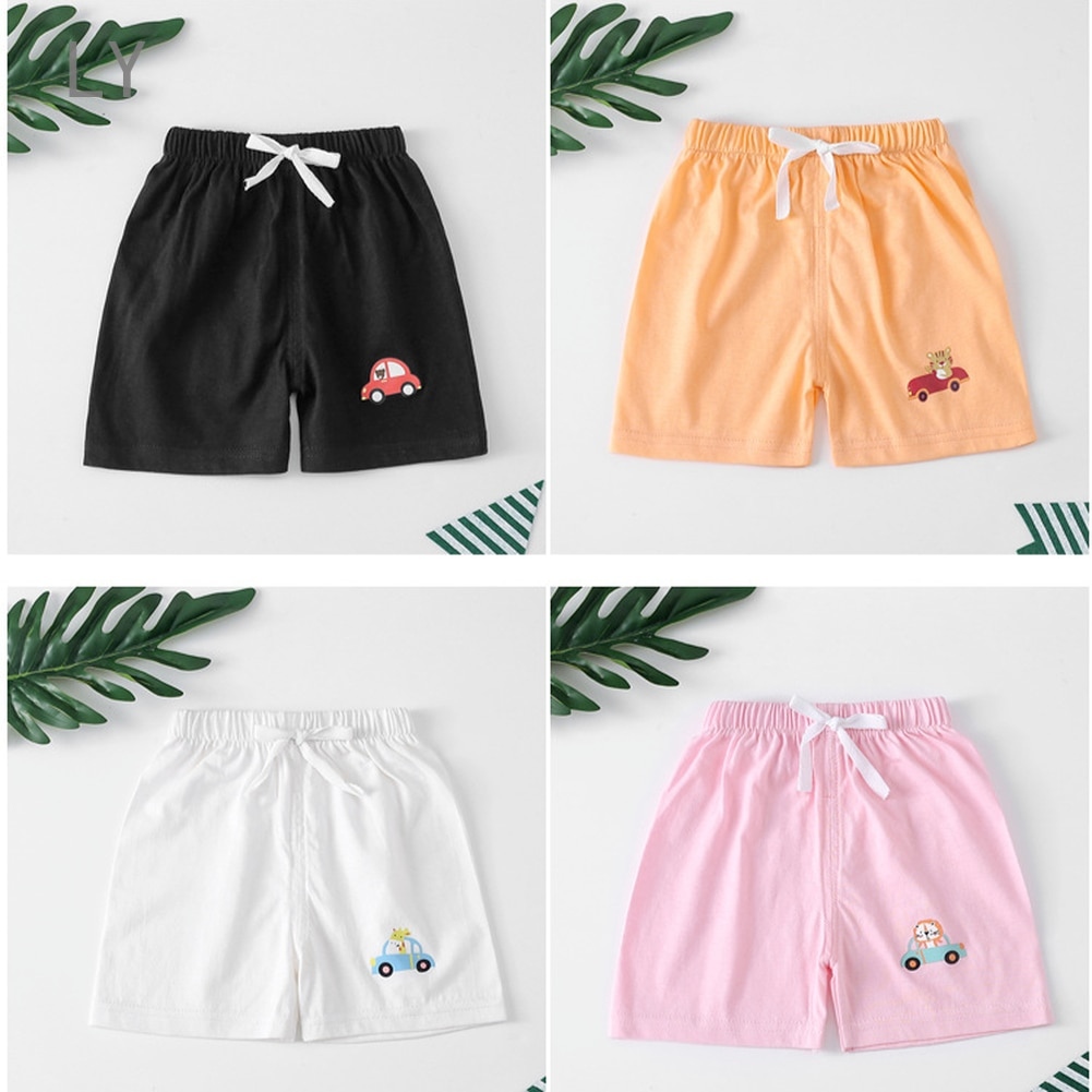 new summer children shorts cotton shorts for boys girls brand shorts toddler panties kids beach short sports pants baby clothing Summer 1-5Y Children Shorts Cotton Shorts For Boys Girls Candy Color Shorts Toddler Panties Kids Beach Short Sports Pants Baby