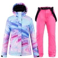 new skiing jacket and pant snow suits women ski sets warm waterproof windproof snowboarding sets winter outdoor clouthes