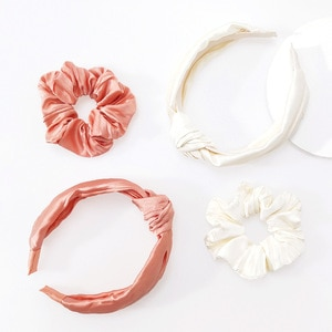 Wholesale women Solid color headband scrunchie girl's fashion headwear lady's hair accessories ins korea style hairbands