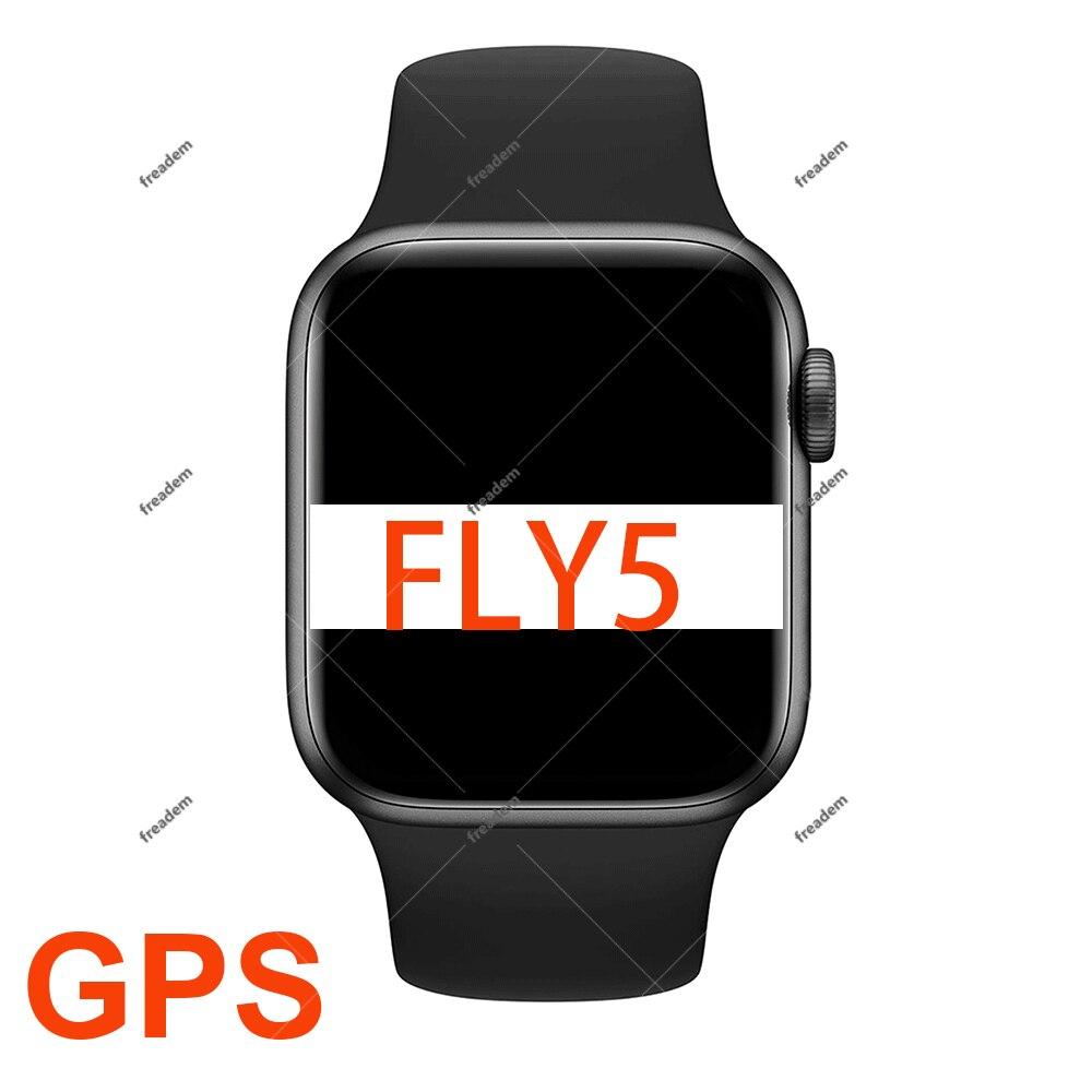 FLY5 44 مللي متر GPS SmartWatch 1.78 بوصة سلسلة 6 1:1 كامل شاشة اللاسلكية شاحن سيري ساعة Bluetooth ذكية مكالمة ل IOS الروبوت