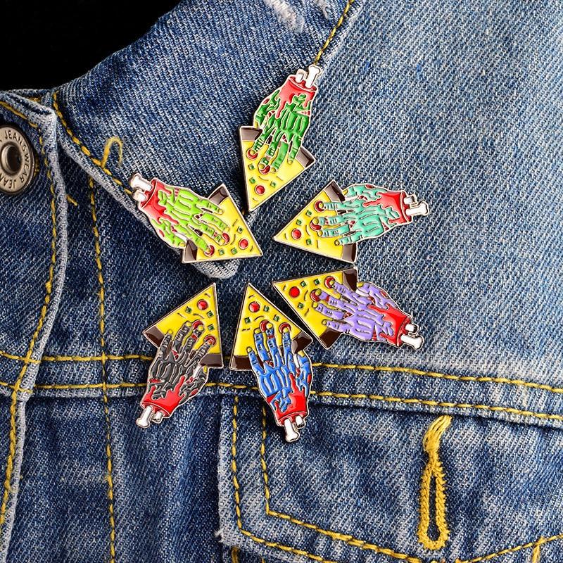 Presentes da surpresa do holesale do broche do emblema do horror do gótico do punk