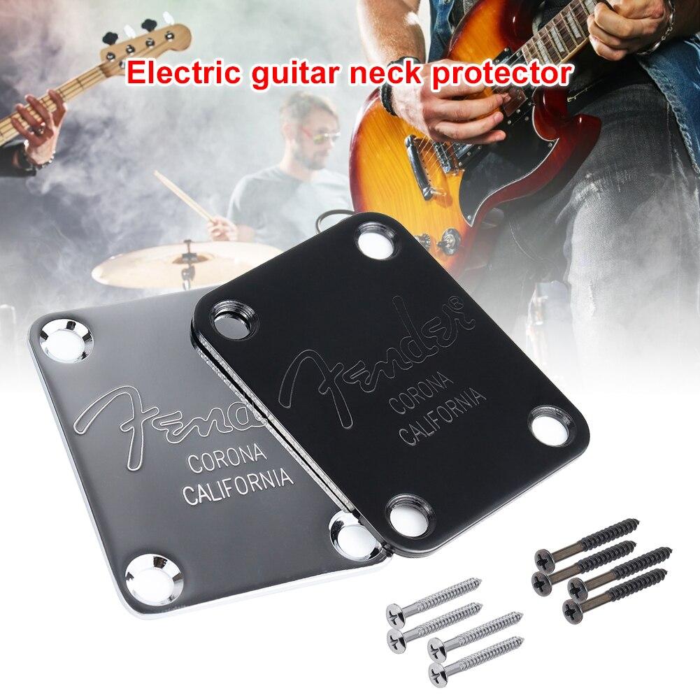 Placa de cuello de bajo eléctrico y tornillos para guitarra Strat Tele...