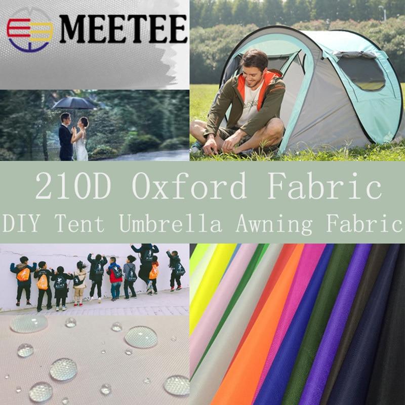 Meetee 100/200X150CM 210D tela Oxford de poliéster impermeable recubierto PU tela DIY carpa paraguas tela toldo accesorios de costura