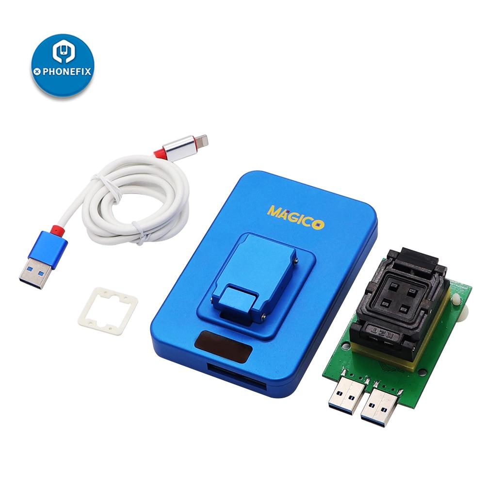 Atualização para Iphone Magico Caixa Nand Pcie Alta Velocidade Programador Fotossensível Reparação Conector 2th 7p 7 6s 6p 5 Ipad ip v2