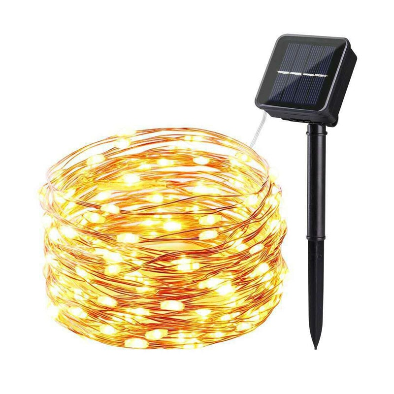 1m 10m usb led lights string outdoor copper wire led fairy light garland holiday chirstmas string light wedding party decorative Solar LED Light String Outdoor Waterproof Copper Wire String For Valentine Wedding Holiday Party Fairy Lights