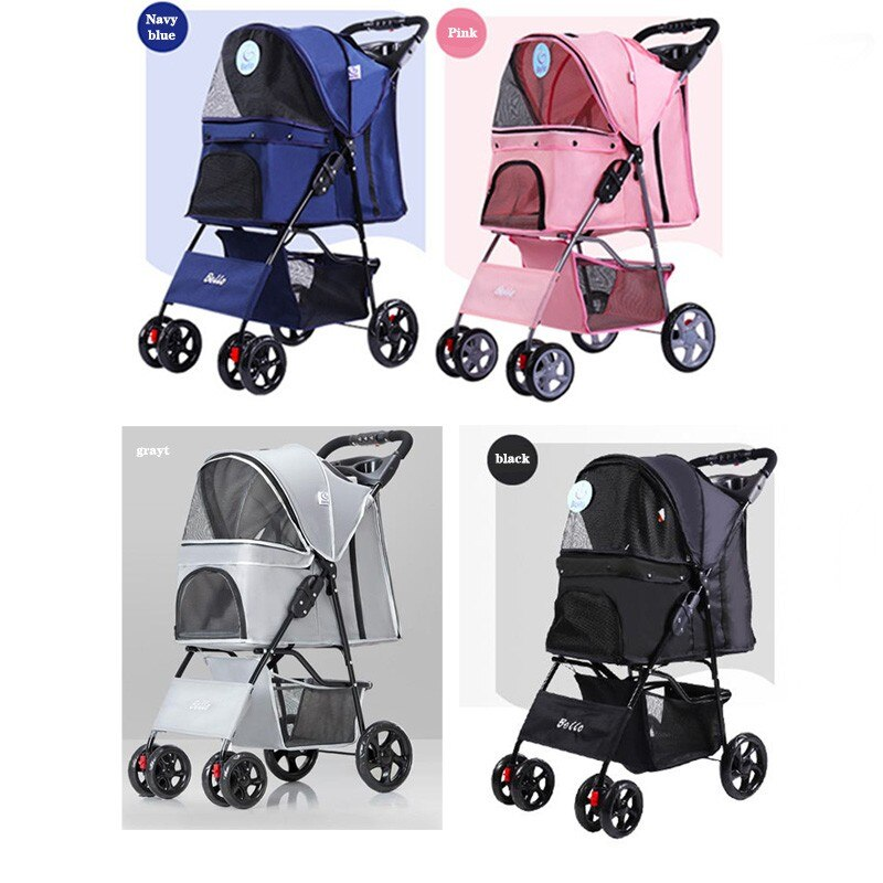 Factory direct sales pet cart foreign trade light folding dog out