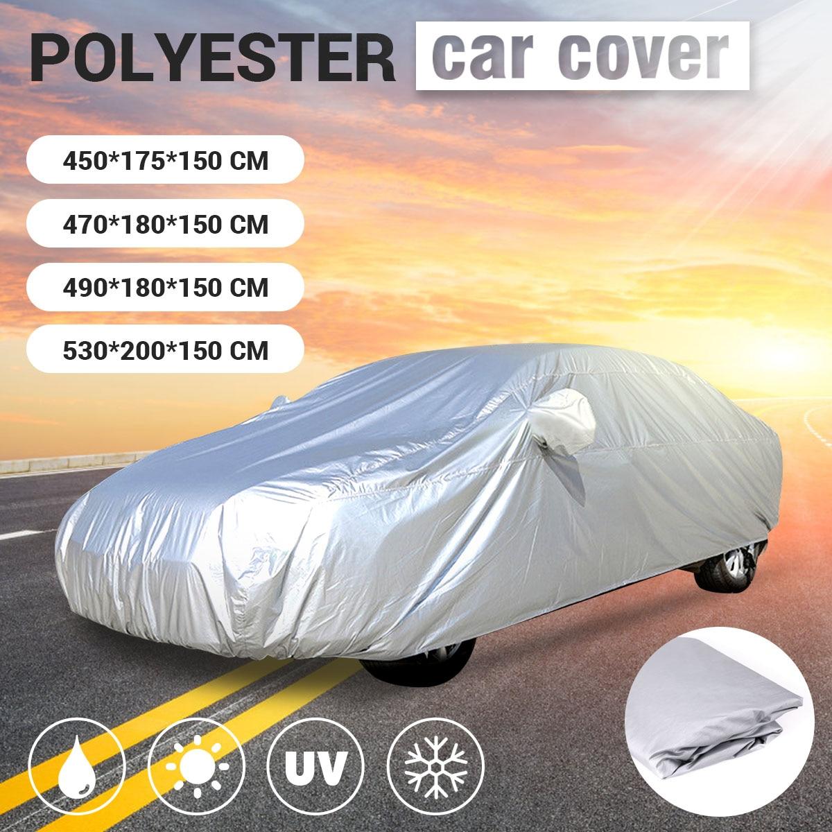 Универсальный 4 размера M L XL XXL серебристый чехол для автомобиля с защитой от УФ-дождя, стильный солнцезащитный козырек, защита от тепла, защи...