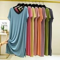lace nightdress short sleeve mom big size loose homewear print soft sleepwear fashion modal sleepdress kpacotakowka