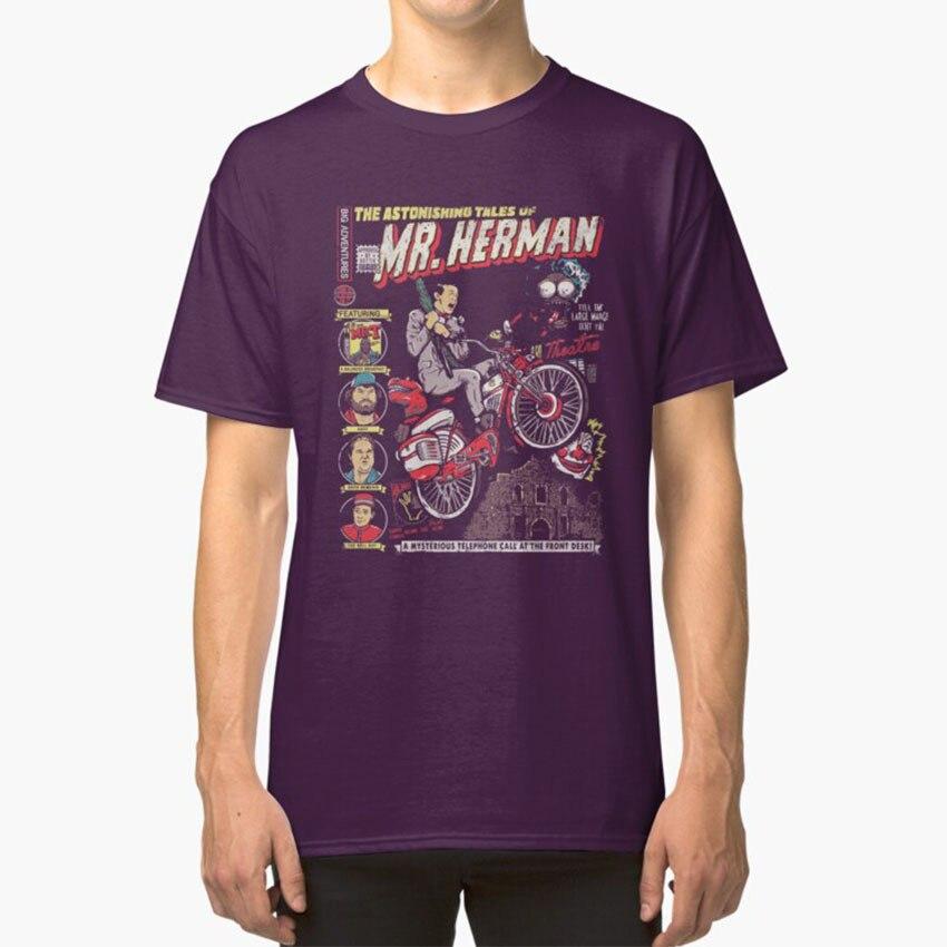 El Sr. Herman T - Shirt infantil Pee Wee Herman cómic de aventura en bicicleta de gran