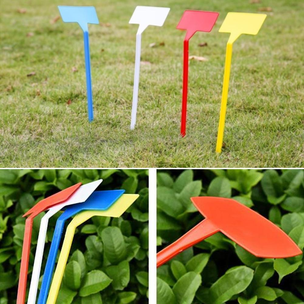 10pcs 30cm T-type Plastic Nursery Garden Plant Label Insert Waterproof Integrated Gardening Label Sign Sign Place Label Cus W9I8 100pcs lot plant label gardening label flower plastic ring label waterproof label plastic marker