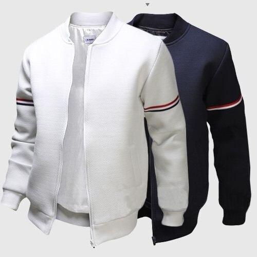 Chaqueta ligera de punto con cremallera, chaqueta deportiva, abrigo, chaqueta de piloto para hombre, cazadora informal, abrigos para motocicleta ae