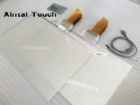 22 inch clear touch foil 10 points interactive touch foil usb touch film for glass