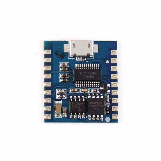 Módulo de reproductor MP3 A23 USB, módulo de Audio de 8 bits con disparador i/o IO UART de 32 bits, Memoria Flash USB, descarga Flash, módulo de voz de DY-SV17F