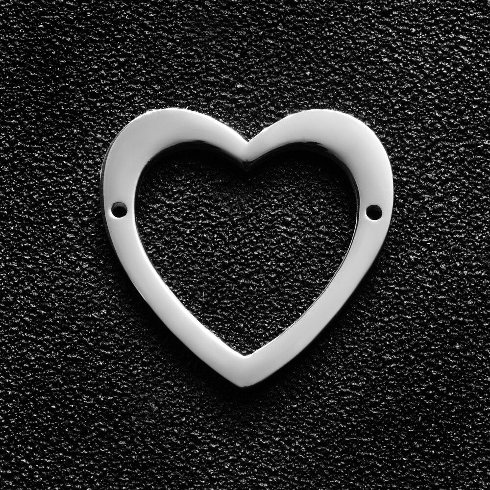 2 pçs/lote Espelho Polido Aço Inoxidável Oco Coração 23*23mm Encantos Jóias Mulheres DIY Amor Do Encanto Do Coração Pingentes