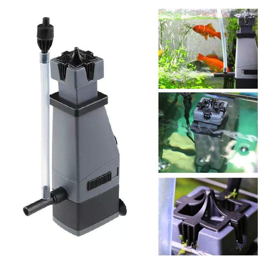 220V Aquarium Surface Skimmer To Remove Oil Slick Oil Film Remover Water Protein Skimmer Filter Pump For Fish Tank Oxygen Pump