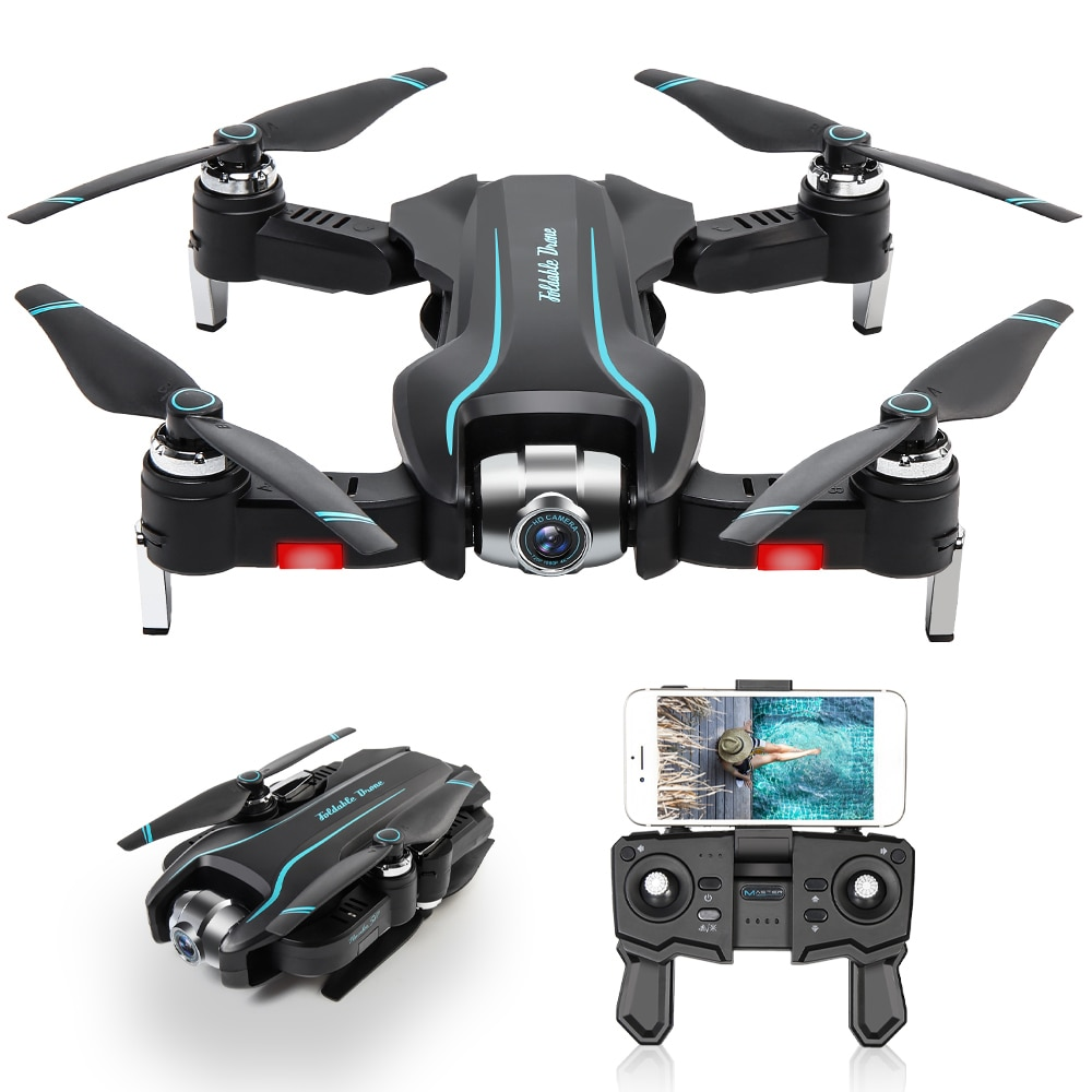 Drone RC S17 con cámara HD 1080P, Mini Drone RC Quadcopter con trayectoria de vuelo, Control Palma MV, producción de flujo óptico, 3 baterías