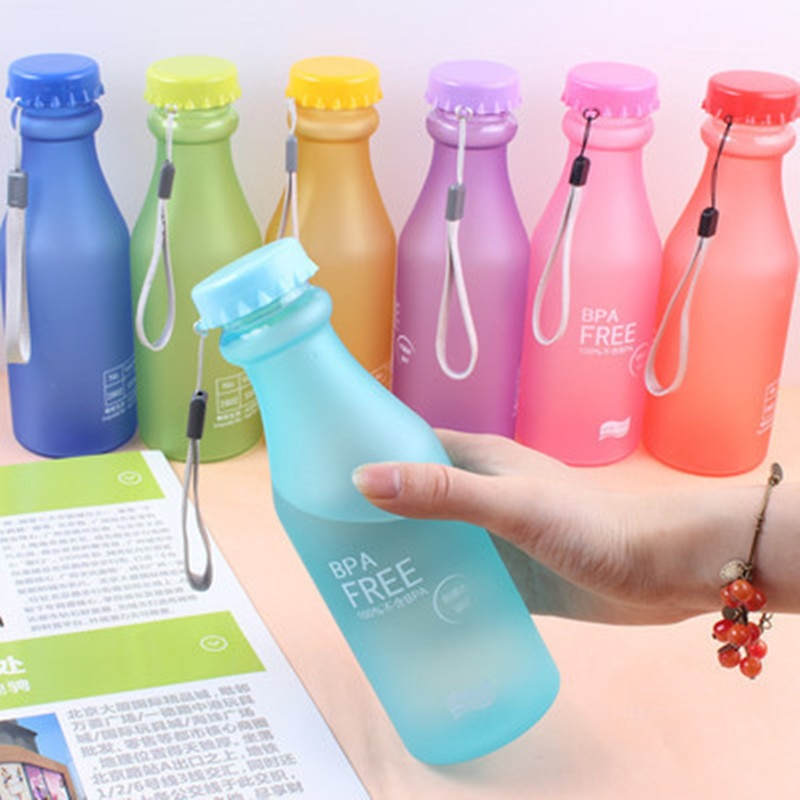 550ML Water Bottle BPA Free Plastic Party Cup Portable Durable Leakproof Water Cup Sports Bottle For