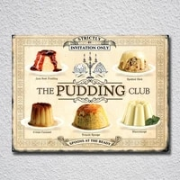 the pudding club by invitation only tin sign metal sign metal poster metal decor metal