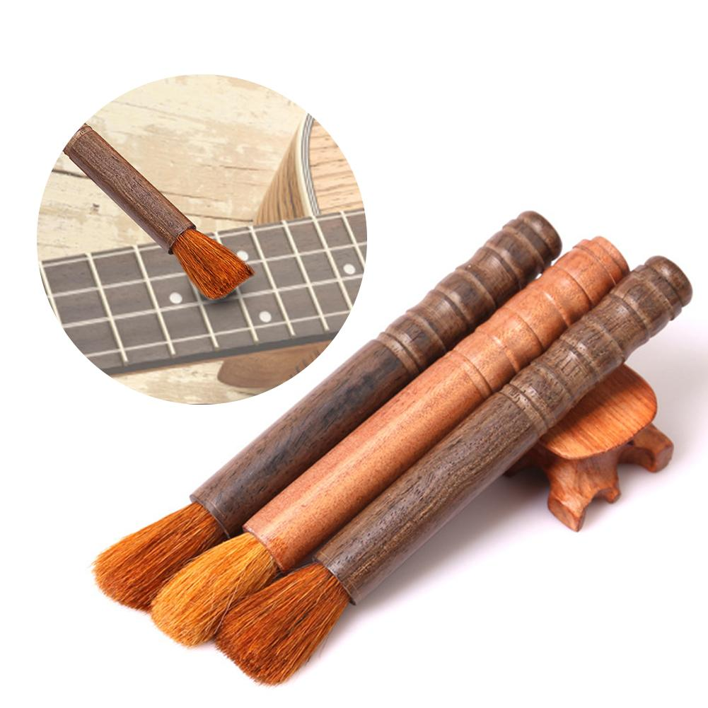 Musical Instrument String Cleaning Brush Solid Wood Rosin Dust Removing Brush cleaner for Guitar Violin 1pc violin rosin natural rosin for bows less dust violin viola cello bows rosin black rosin musical instrument accessories