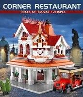mould king moc the paradises corner restaurant building model sets assemble blocks bricks kids educational toys birthday gifts