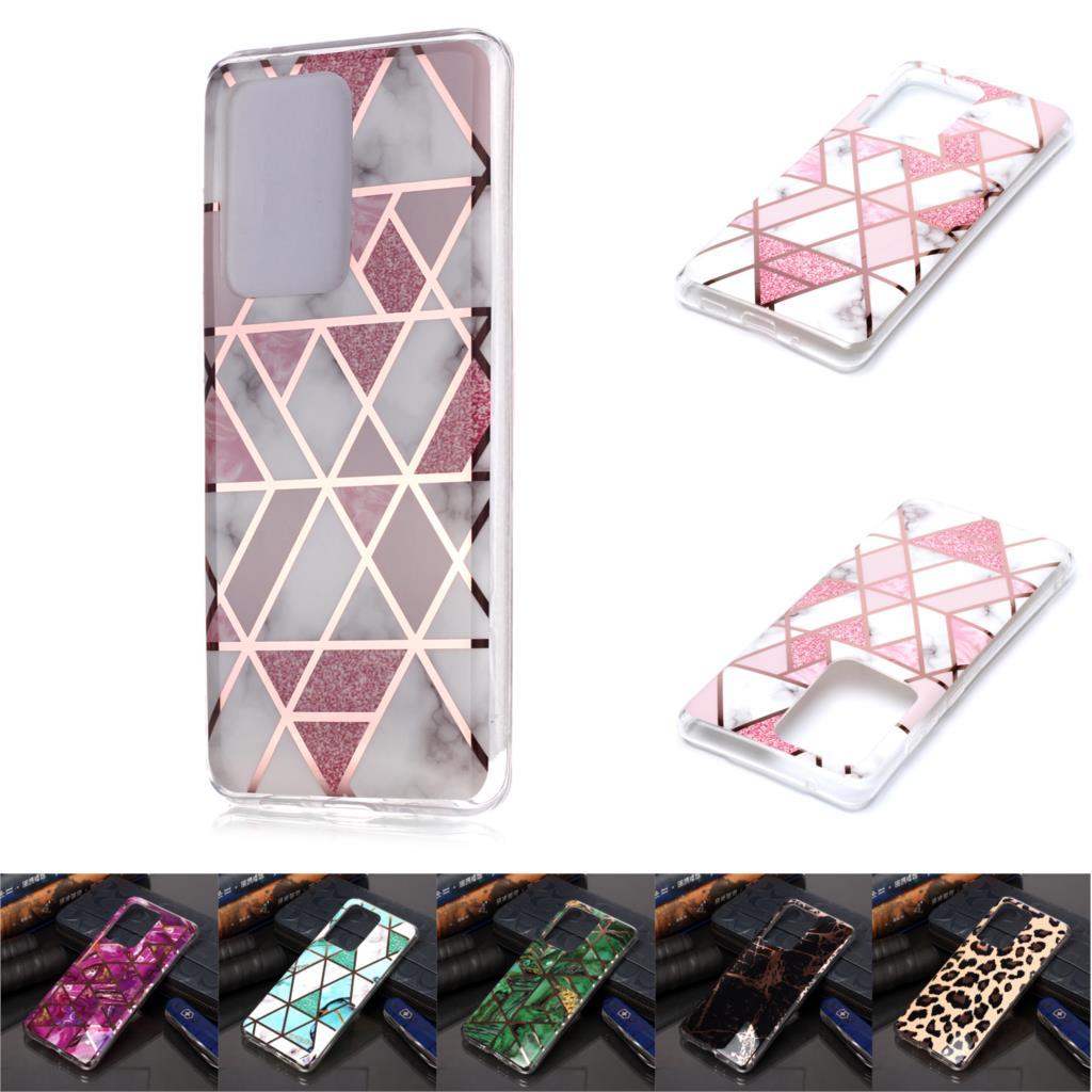 Mignon téléphone étuis pour capa Samsung A7 2018 géométrique Silicone couverture souple protection sFor sac Samsung cellulaire A750 Casa