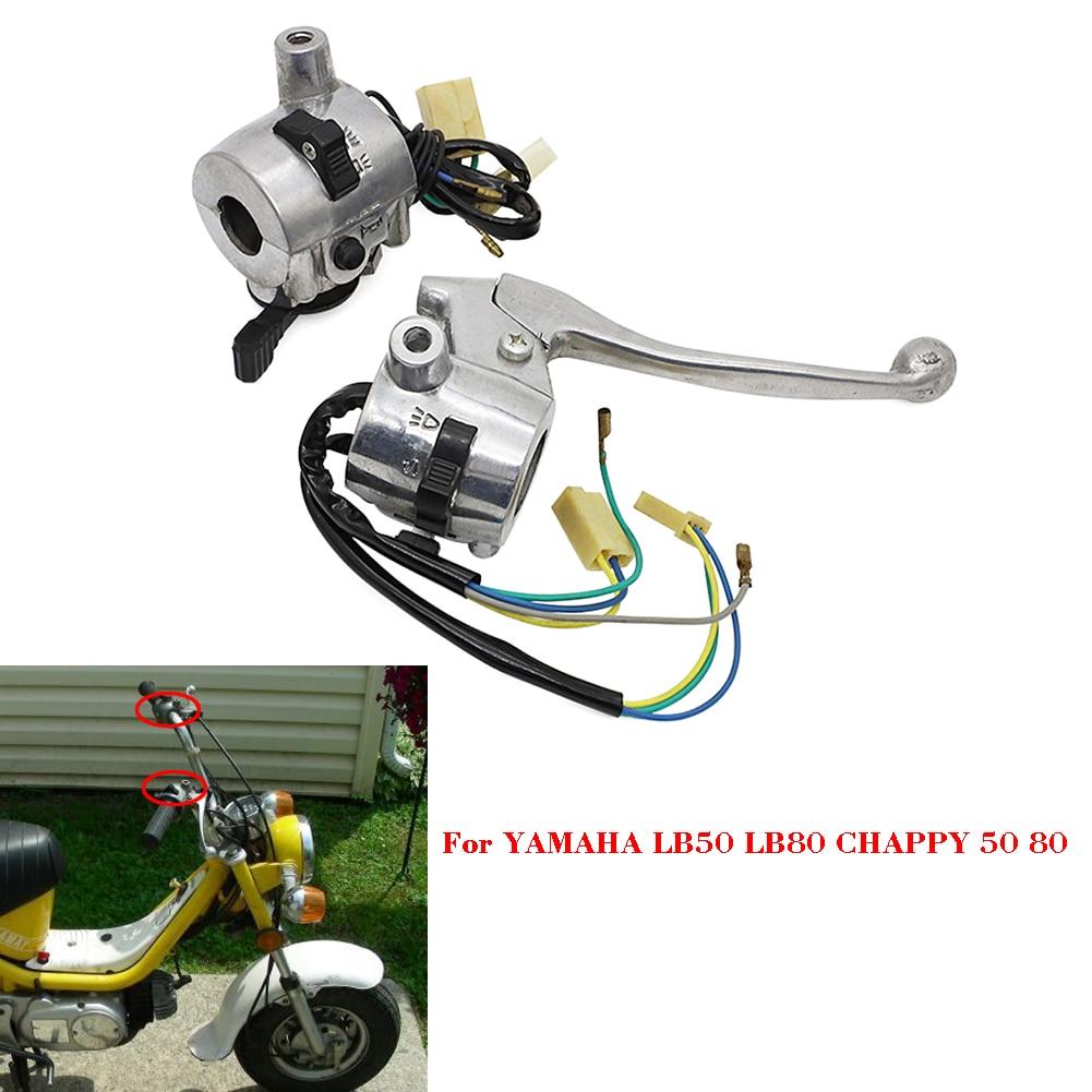 1 Pair  Handlebar Handle Bar Switch Left & Right For Yamaha LB50 LB80 Chappy 50 80