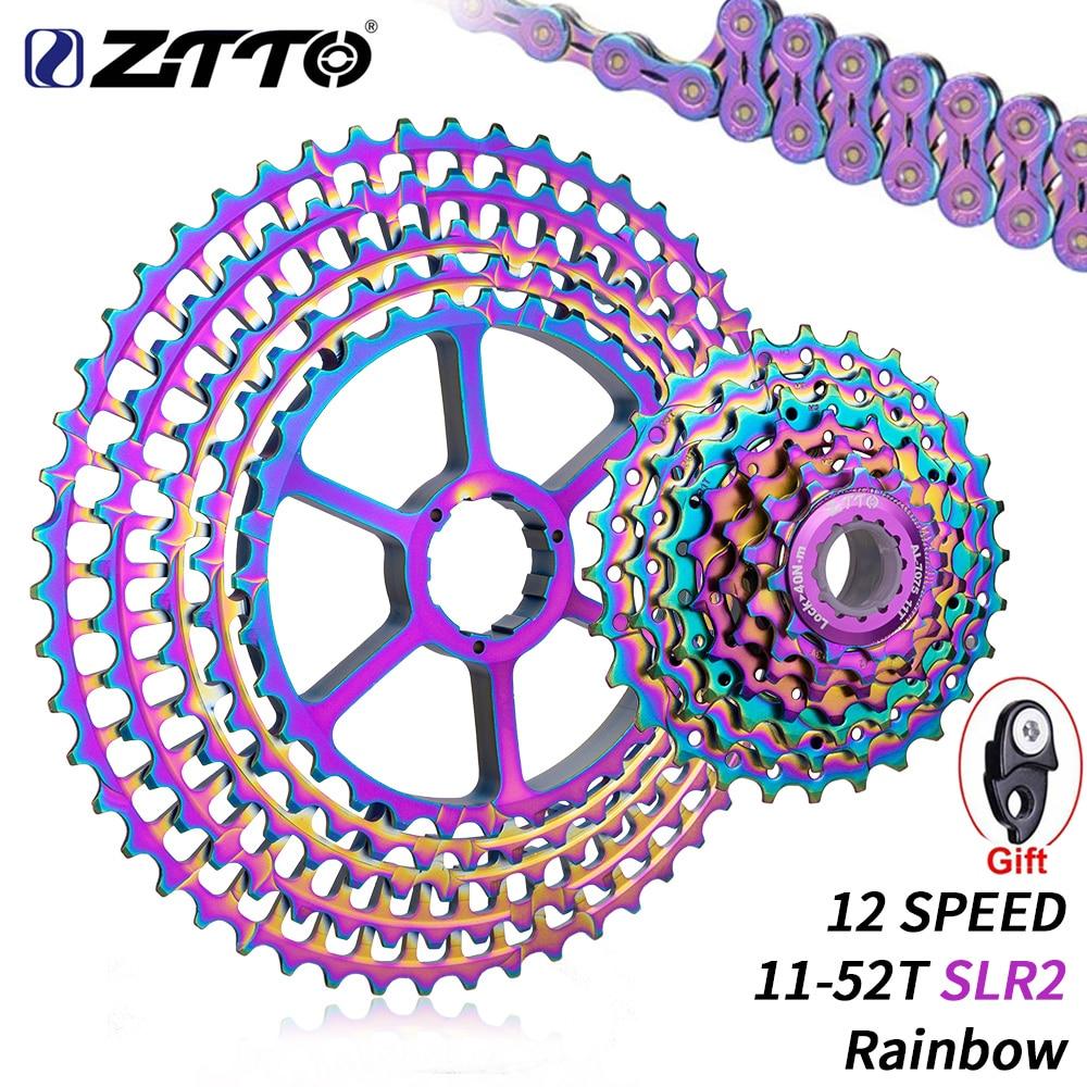 ZTTO nuevo 12 velocidades Arco Iris casete 11-52T SLR2 12s MTB 12 Velocidad ultraligero K7 12V bicicleta de Montaña de rueda libre de 413g para HG Hub