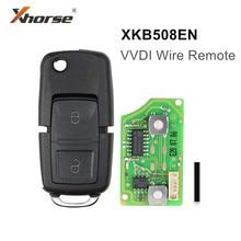Универсальный пульт дистанционного управления 5 шт./лот Xhorse XKB508EN, в стиле B5, 2 кнопки для VVDI Key Tool VVDI2, бесплатная доставка