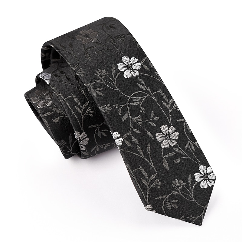 High Quality 2019 New Designers Brands Fashion Business 5cm Slim Ties for Men 100% Silk Necktie Formal Work with Gift Box Blue