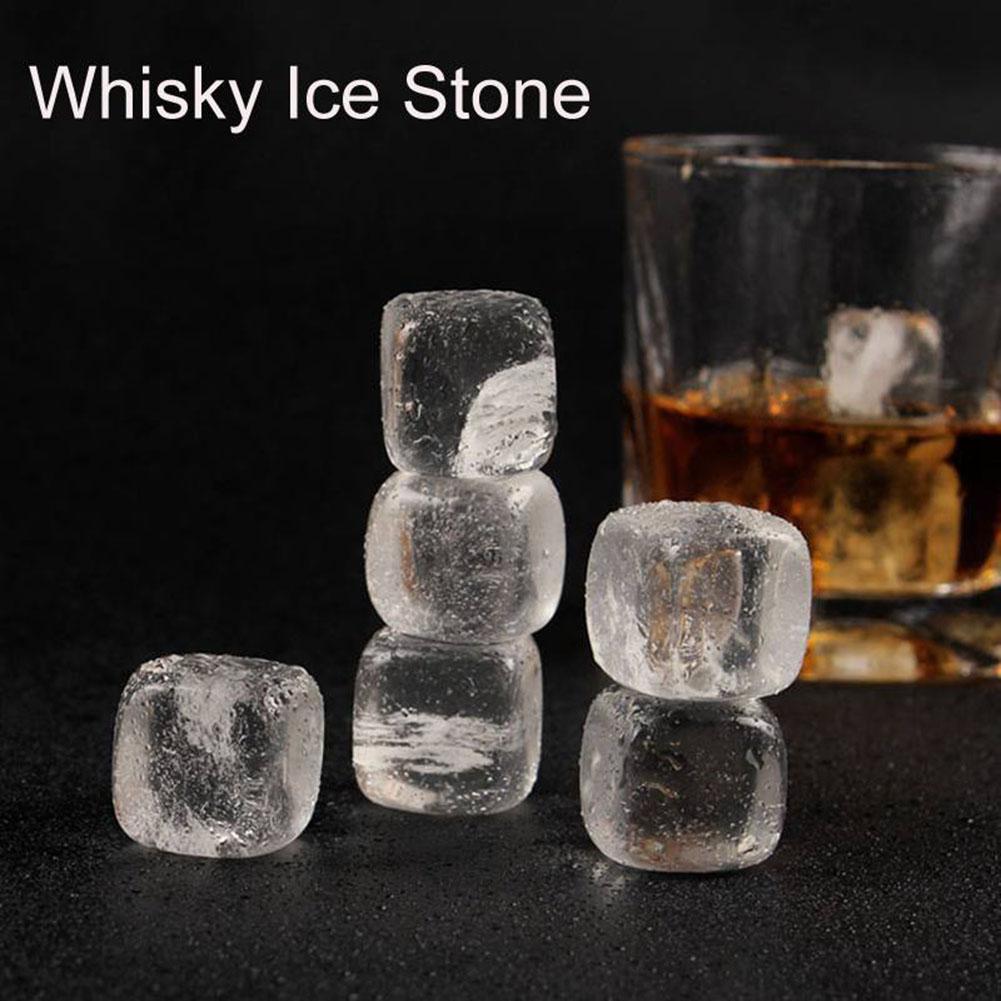 1 unidad de piedras whisky transparentes bebidas de hielo cerveza vino bebida cubitos enfriadores de vino juego de barras enfriadoras Bar suministros 30E