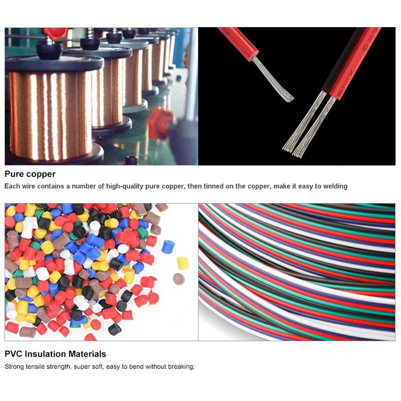 Купить с кэшбэком 2/3/4/5/6 Pin Electrical Wire Cable 18/20/22AWG Cable JST SM Connector Electric Cable For WS2812B RGB RGBW 5050 LED Strip Light