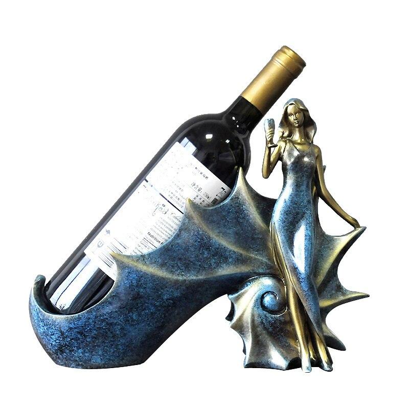 الشمال الأحمر النبيذ الرف الفتاة الديكور الإبداع الحديثة غرفة المعيشة شرفة خزانة النبيذ المنزلي الحرف اليدوية النبيذ الأحمر رف الديكور