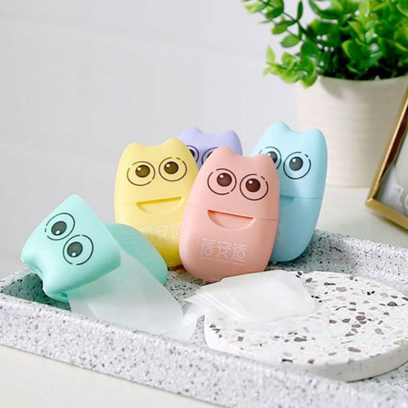 Boîte de savon mousseux jetable, 1 boîte de 20 pièces, Mini papier de voyage pour le lavage des mains et le bain, boîte Portable, couleur aléatoire